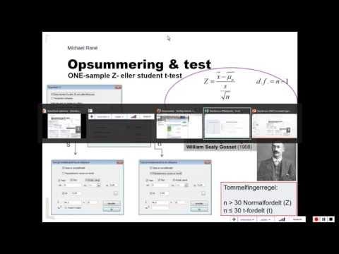 Test på middelværdi for en variabel - Statistik med Michael René