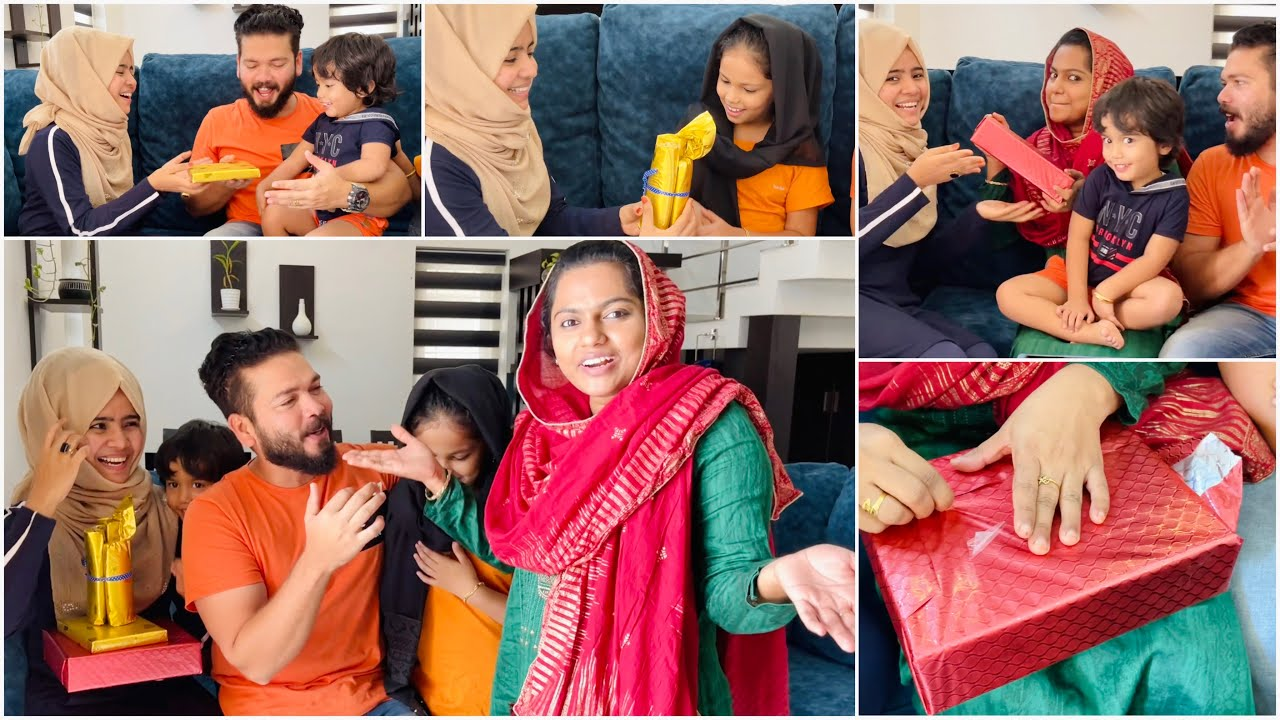 Surprising My Family with Eid Gifts 🎁 🥰 | Mashura | Basheer Bashi | Suhana