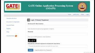 GATE 2019 Admit Card Download - GATE 2019 Exam Date - Login GATE 2019- GOAPS- GATE 2019 Notification
