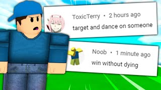 doing your arsenal dares.. (Roblox)