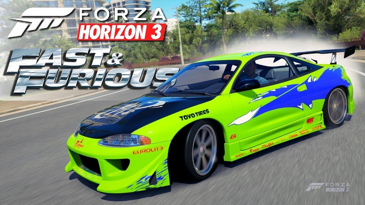 Forza Horizon 3 Fast And Furious Mitsubishi Eclipse