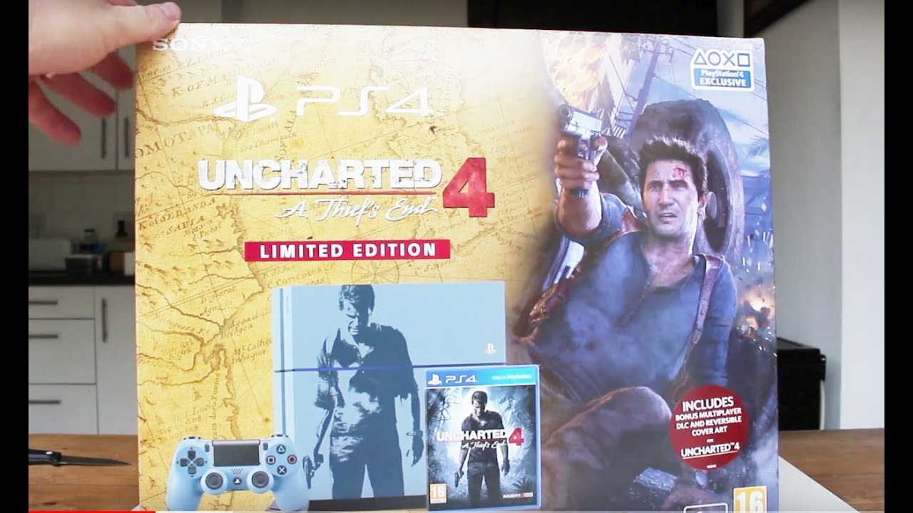 Limited Edition Unboxing Uncharted 4 Ps4 1tb Console Youtube