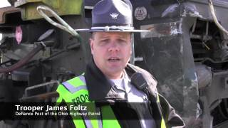 Dump truck vs. train crash - Defiance, Ohio
