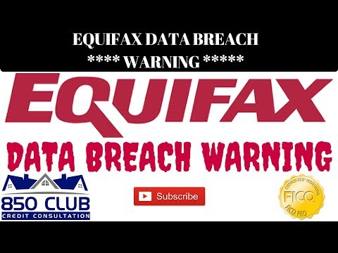 *IMPORTANT* Equifax Data Breach 9/8/17 - 850 Club Credit Consultation