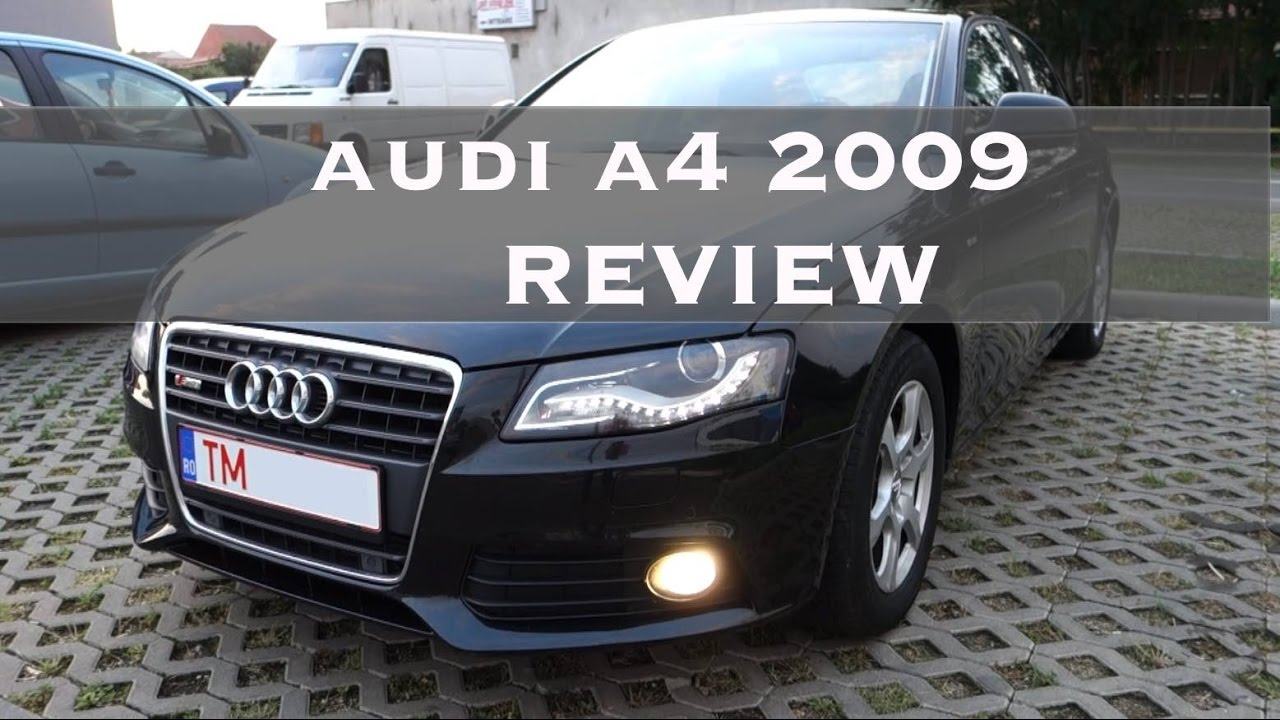 audi a4 b8 2009 review multitronic youtube. Black Bedroom Furniture Sets. Home Design Ideas