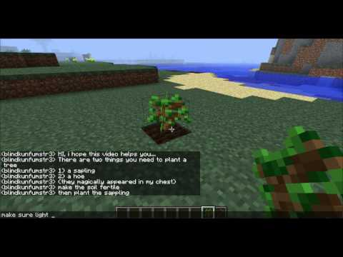 minecraft how to plant