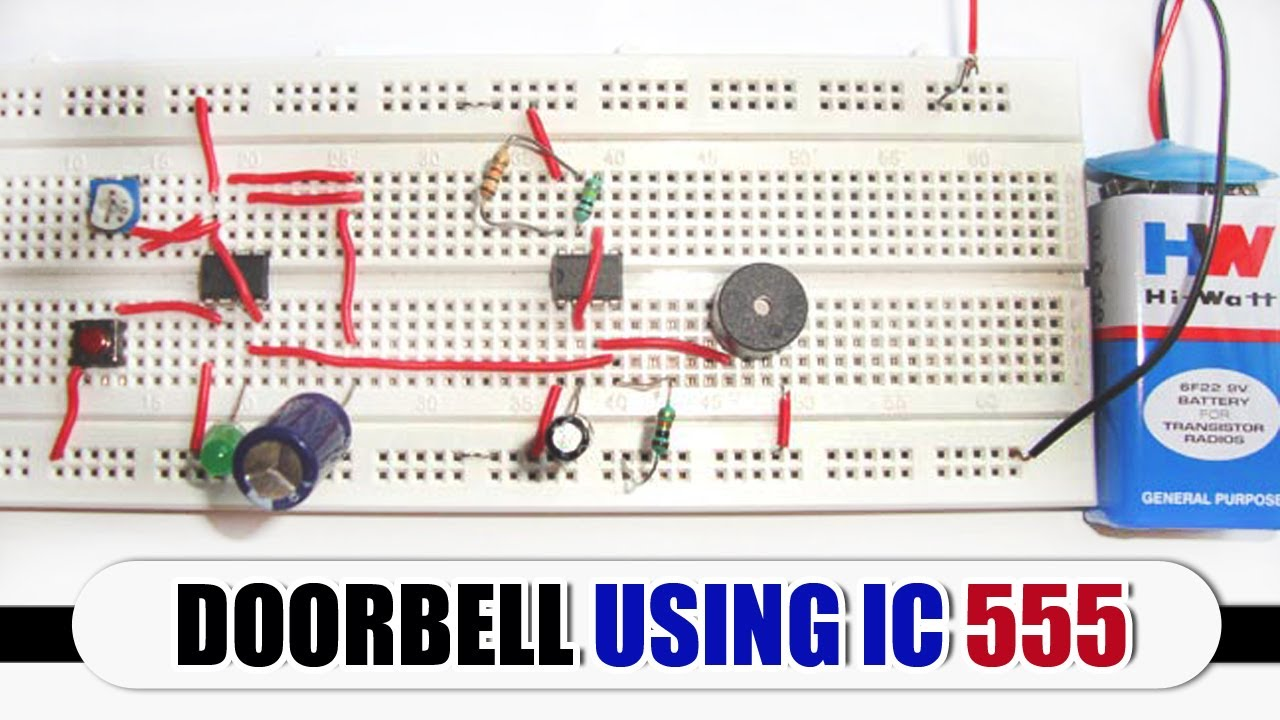 Electronic Bell With Two 555 Timers Electronic Projects Circuits