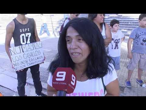 Protesta en contra de la tracción a sangre en Paraná