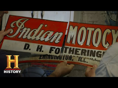 American Pickers: Mike Picks up the Pieces of a Motocross Sign (S18, E8) | History