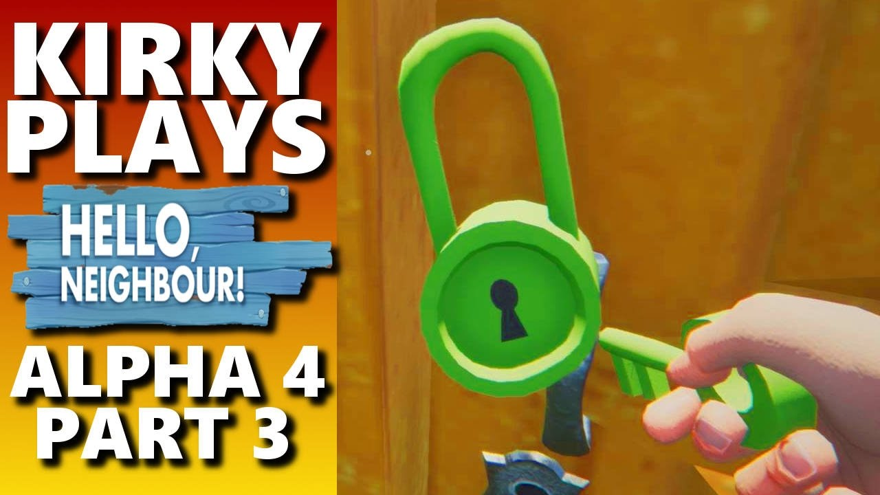 How to Get The Green Key And Where To Use It   Hello Neighbor Alpha 4  Gameplay 3