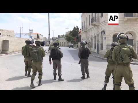 Palestinians, Israeli troops clash in Bethlehem