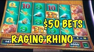 RAGING RHINO RAMPAGE: $50 MEGAPLAY BETS!