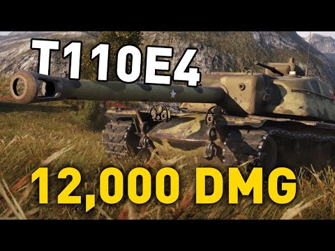 World Of Tanks || T110E4 - 12,000 DMG...