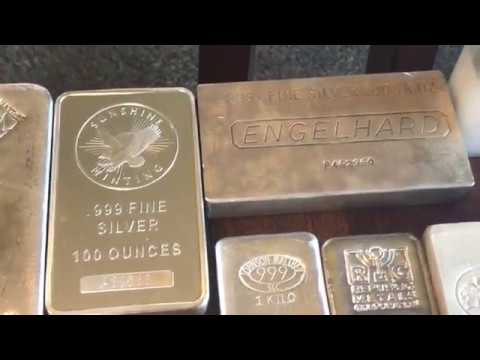 4,500 oz Full Silver Stack: Part 1 - Silver Bars (Sept. 2018)