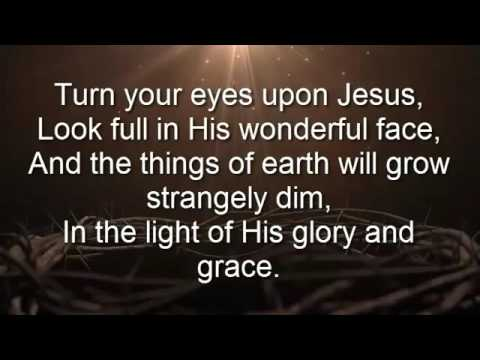 Image result for turn your eyes upon jesus