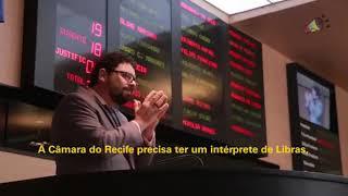 [Blog da Folha] Vereador Ivan Moraes faz discurso em Libras na Câmara