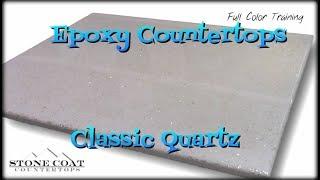 Epoxy Countertops Classic Quartz Color training