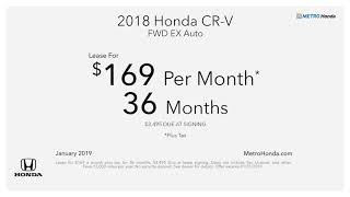 Metro Honda Lease Specials - January 2019