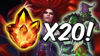 20x Four Star Crystal Opening! - Search For Medusa & Green Goblin - Marvel Contest Of Champions