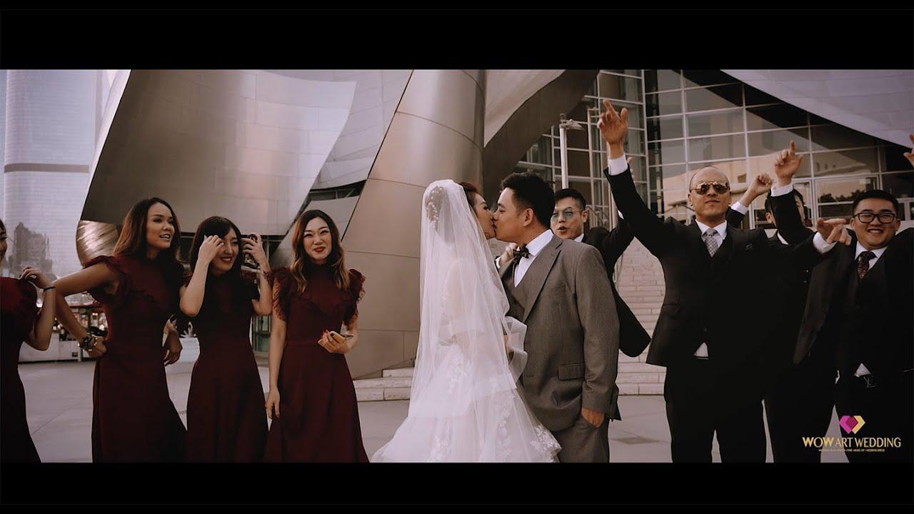 洛杉矶downtown迪士尼音乐厅的婚礼微电影wowartwedding.com