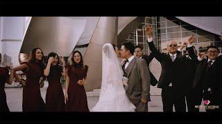 洛杉矶downtown迪士尼音乐厅的婚礼微电影