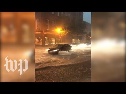 Flash flooding hits Frederick, Md.