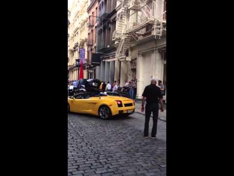 Lamborghini reverse park Soho, New York