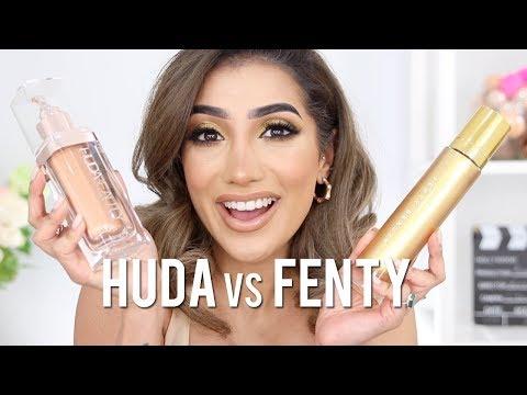 HUDA BEAUTY NYMPH VS FENTY BODY LAVA REVIEW | AnchalMUA