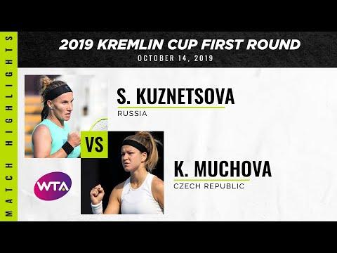 Svetlana Kuznetsova Vs. Karolina Muchova | 2019 Kremlin Cup First Round | WTA Highlights