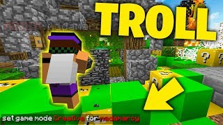 GIOCARE UNA PARTITA IN CREATIVA! TROLL su Minecraft ITA