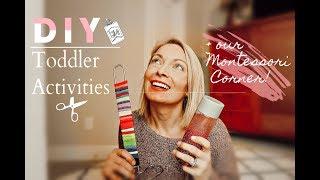 DIY TODDLER ACTIVITIES / MONTESSORI CORNER TOUR