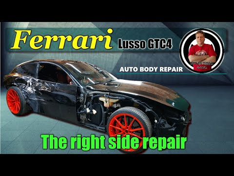 Ferrari Lusso GTC4. The body repair. Ремонт кузова.