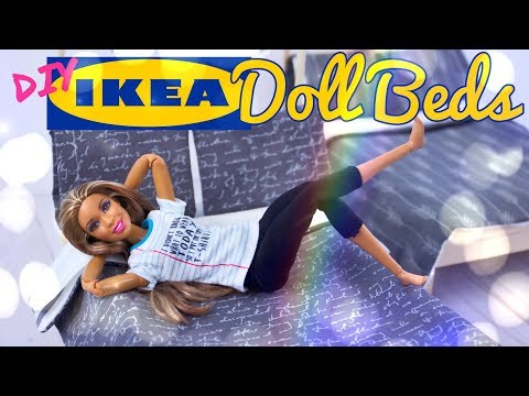 DIY - How To Make: IKEA Doll Beds PLUS Custom Bedding