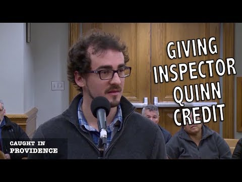 Giving Inspector Quinn Credit and I Couldn't Stop