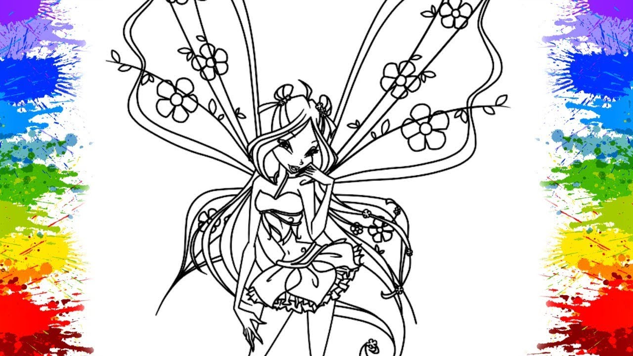 Bloom Harmonix Winx Club Coloring Pages Printable | 720x1280