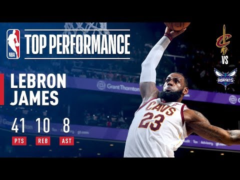 LeBron James GETS BUCKETS vs The Hornets