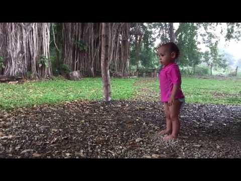 Matapalo, Costa Rica - Toddler Playing in Front Yard - Family Travel - The Family Fun Tour