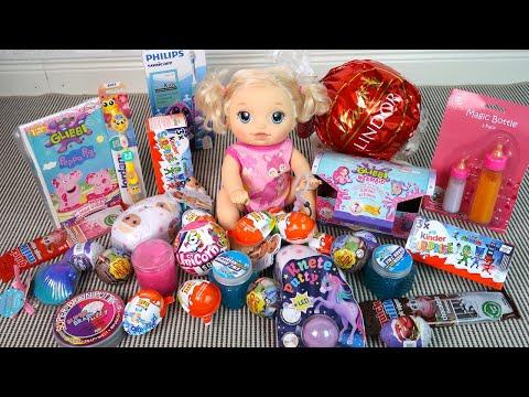 Игрушки и Сюрпризы из Огромной Коробки Мультики для детей Как Мама Играла в Куклы 108мама тв