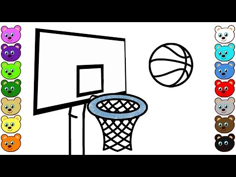 Basketball Game & Ball | Coloring Pages for Toddlers
