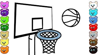 Learn Colors for Kids with Basketball Game & Ball | Coloring Pages for Toddlers