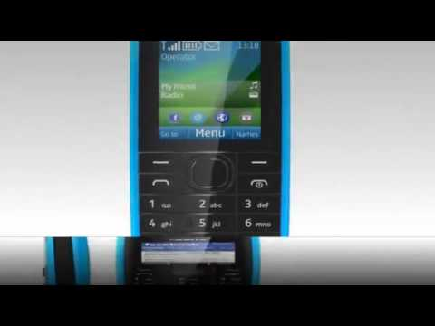 Nokia 109 mobile phone,1.8 inches Display, Black and Cyan colors1088