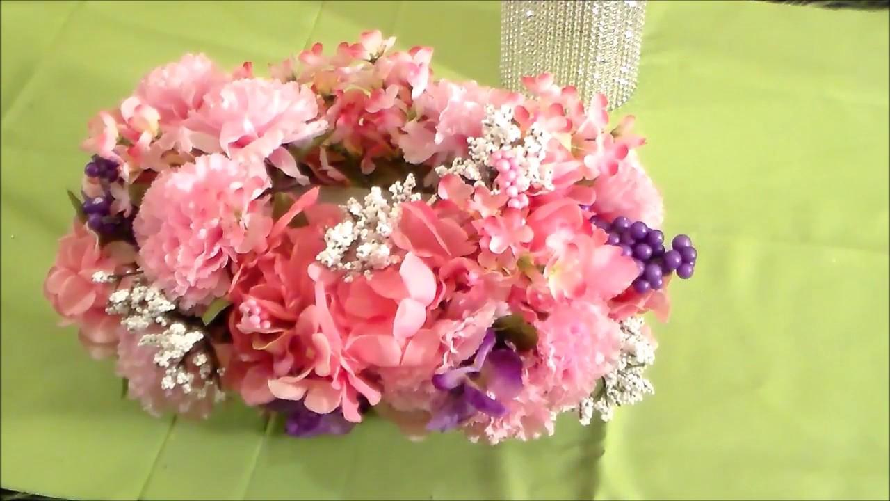 DIY: Bling Wedding Centerpiece - YouTube