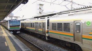 【E233系】高崎線 籠原  到着→発車 / 発車【211系】