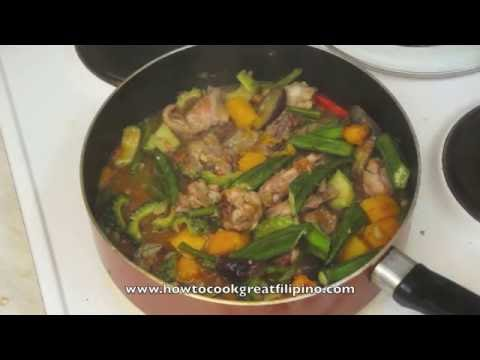 Paano magluto Chicken Pinakbet Recipe - Mixed Vegetables - Tagalog Pinoy Filipno Cooking