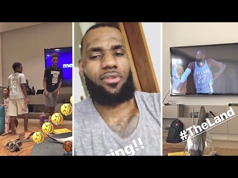 LeBron James Uses NBA 2K To Practice With His Cavs & Is Chilling At Home With His Kids