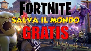 FORTNITE SAVE THE FREE WORLD! I'M GOING TO SAVE THE WORLD!!