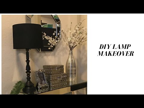 Lamp transformation. DIY with spray paint