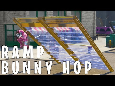 How to BUNNY HOP with RAMPS in Fortnite!
