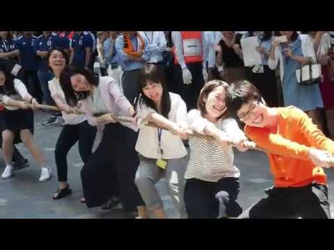 Tug-of-war contest in Tokyo's business district