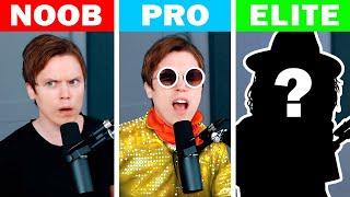 "Singing 16 Levels of ""Bad Guy"" (Noob to Elite)"